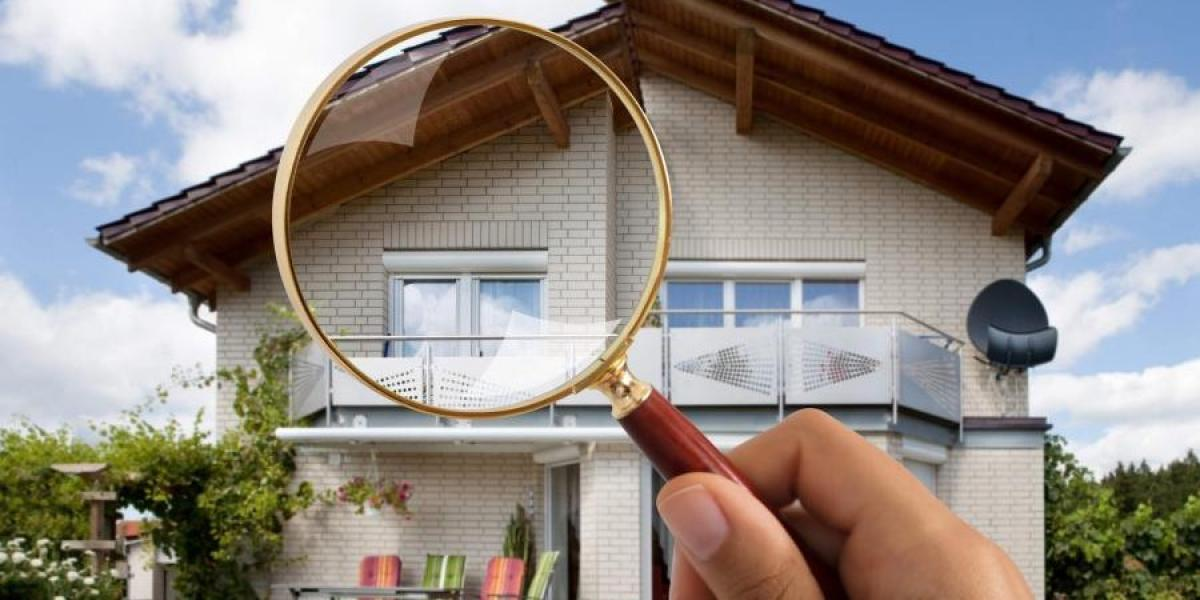 magnifying glass showing the exterior of house - va appraisal