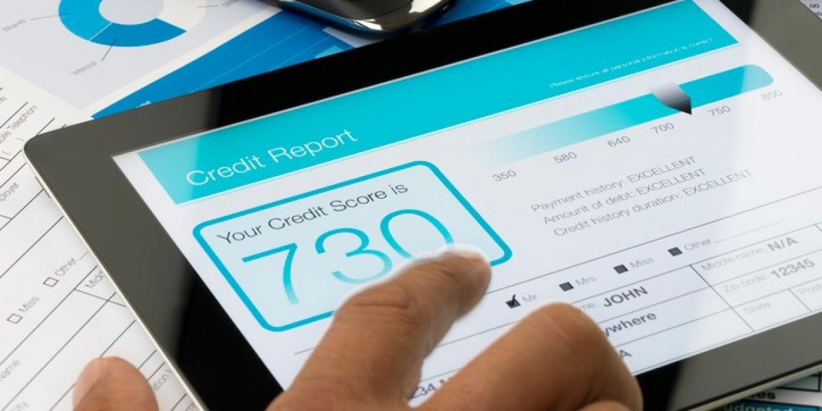 credit score displayed on tablet