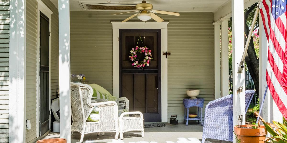 front door of couple using a joint va loan