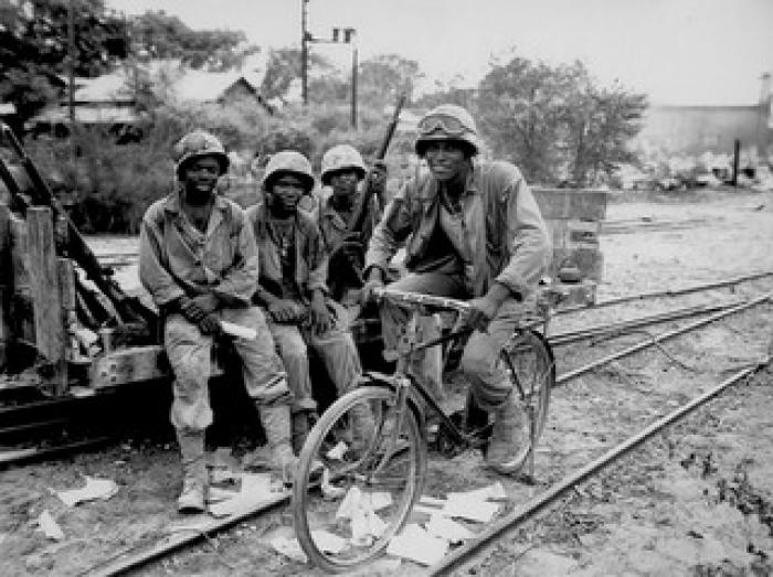 First African American Marines received the Congressional Gold Medal.