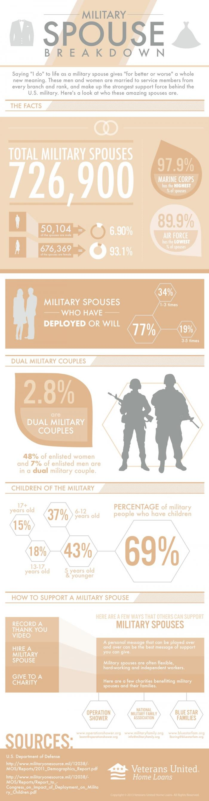 Military Spouse Information Infographic
