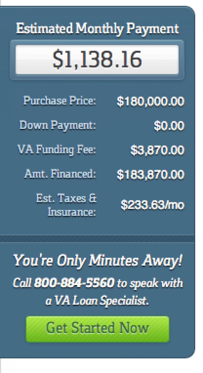 Veterans United loan calculator