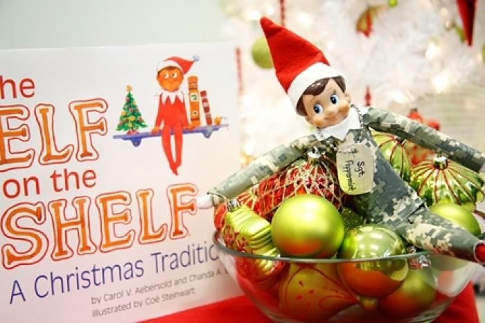 Elf on the Shelf with Camouflage