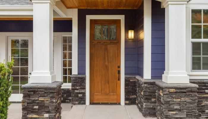 front door of beautiful home purchased with no PMI