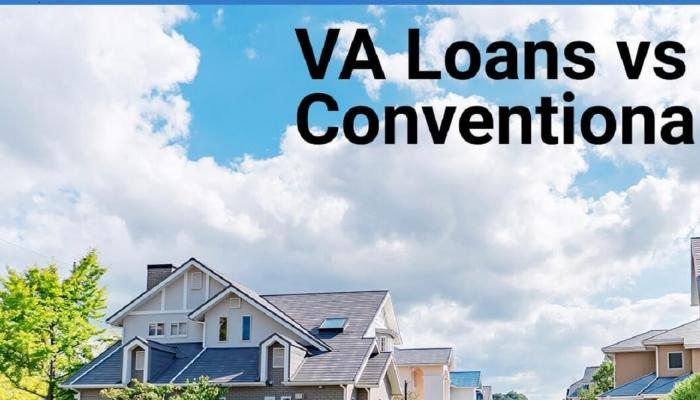 VA Loan vs Conventional Home Graphic