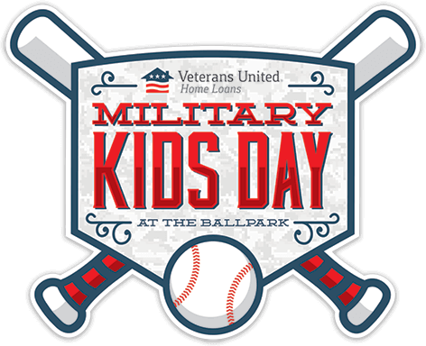 Military Kids Day at the Ballpark sponsored by Veterans United Home Loans